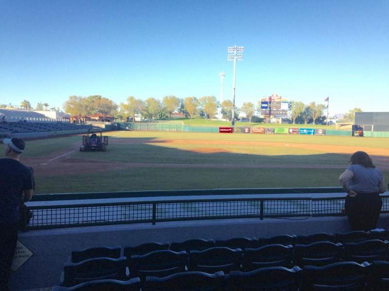 Seating view for Scottsdale Stadium Section 110 Row H Seat 1