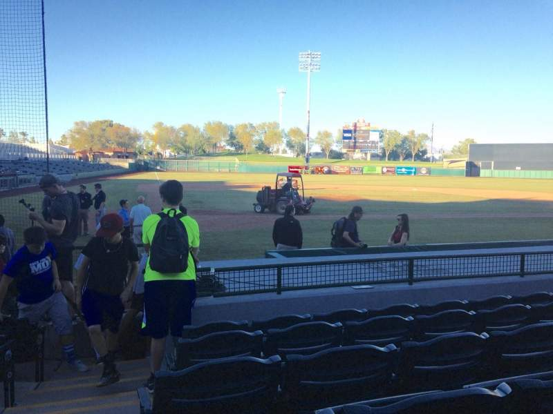 Seating view for Scottsdale Stadium Section 108 Row H Seat 1