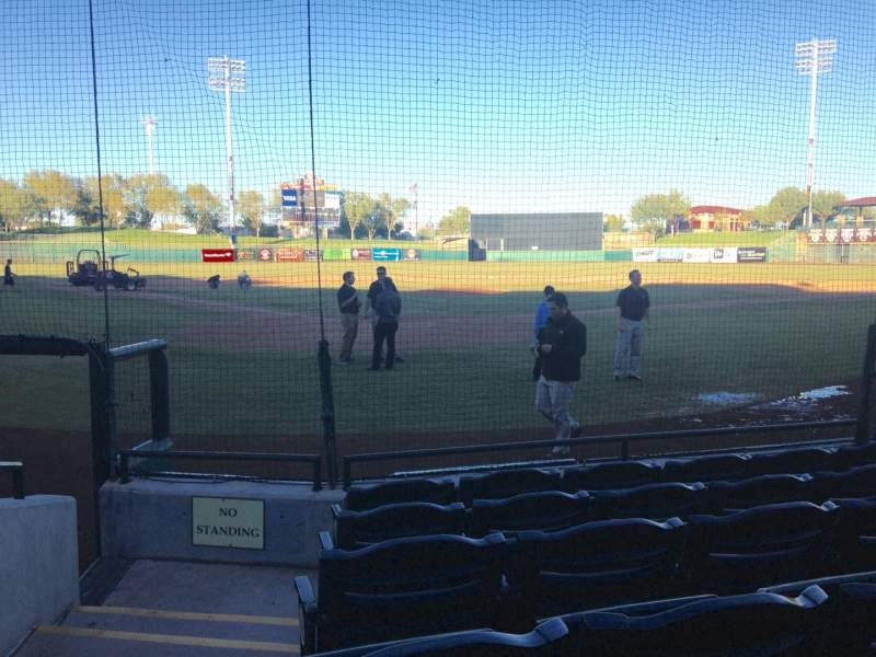 Seating view for Scottsdale Stadium Section 104 Row F Seat 1