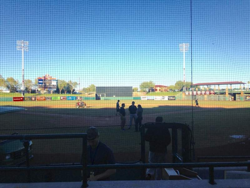 Seating view for Scottsdale Stadium Section 102 Row F Seat 1