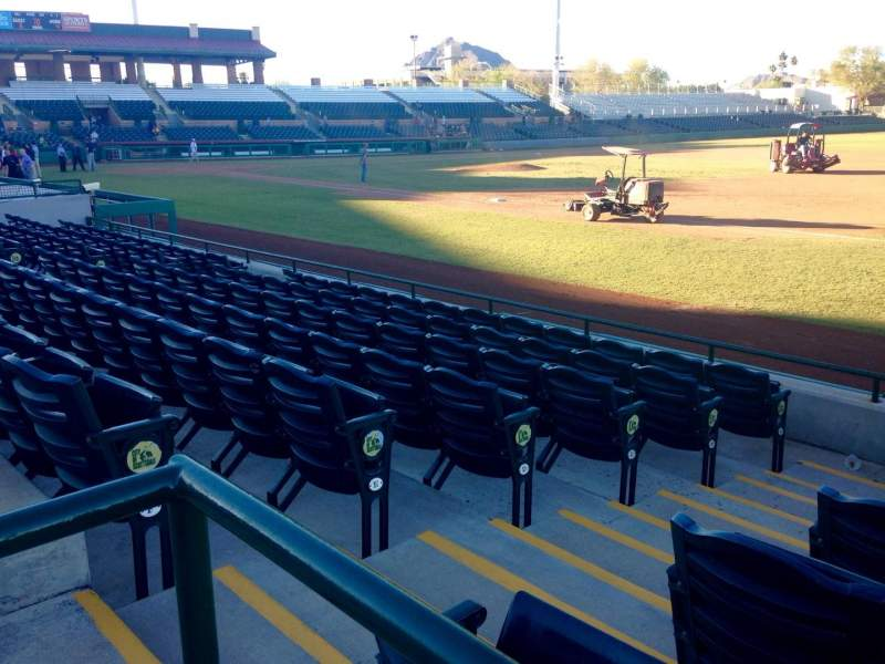 Seating view for Scottsdale Stadium Section 122 Row WC Seat 3