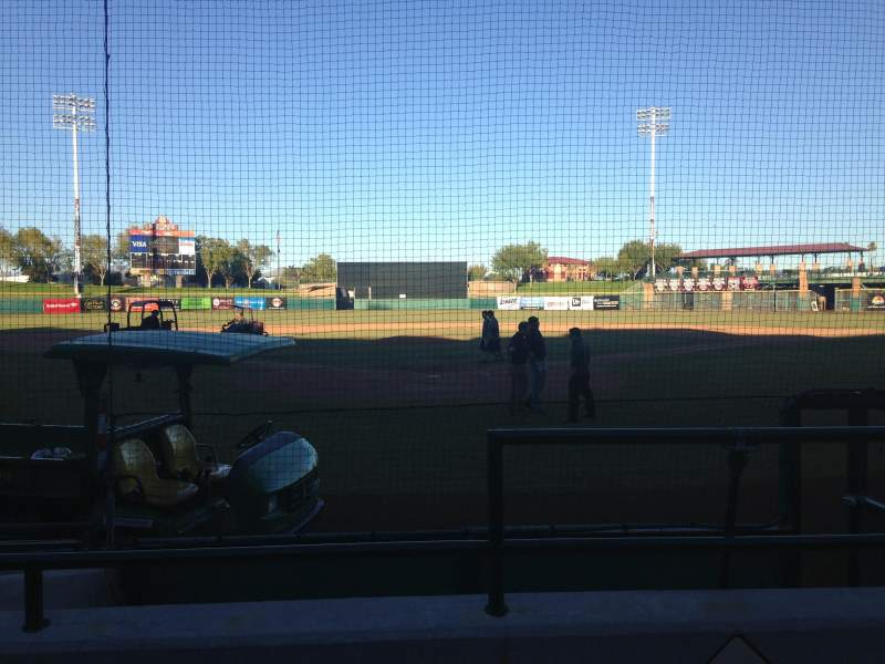 Seating view for Scottsdale Stadium Section 101 Row F Seat 1