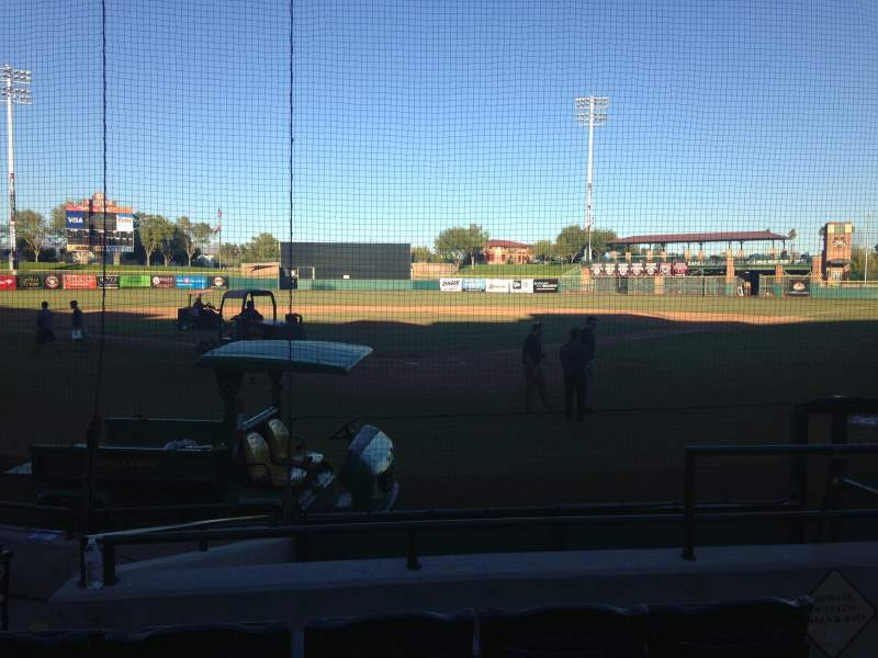 Seating view for Scottsdale Stadium Section 101 Row WC Seat 3