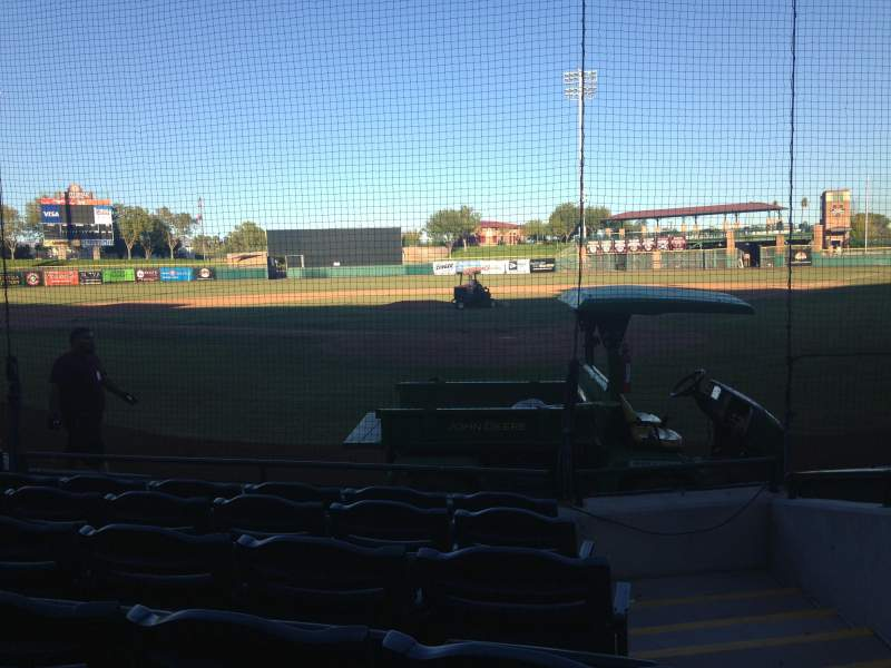 Seating view for Scottsdale Stadium Section 103 Row F Seat 1