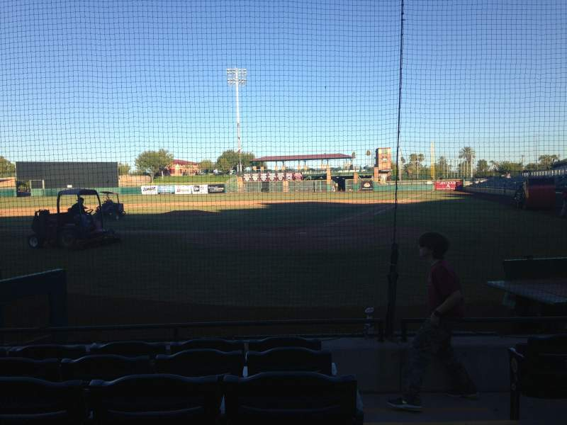 Seating view for Scottsdale Stadium Section 105 Row F Seat 1