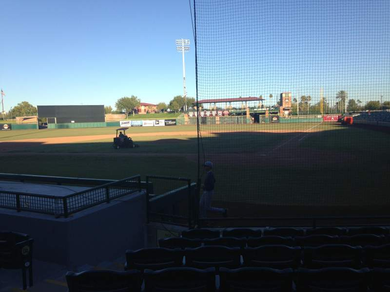 Seating view for Scottsdale Stadium Section 105 Row WC Seat 3