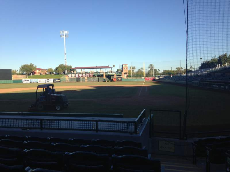 Seating view for Scottsdale Stadium Section 107 Row H Seat 1