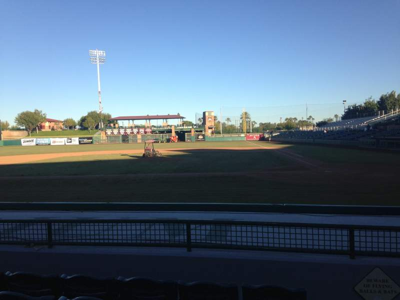 Seating view for Scottsdale Stadium Section 109 Row H Seat 1