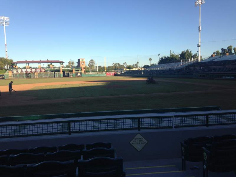 Seating view for Scottsdale Stadium Section 113 Row H Seat 1