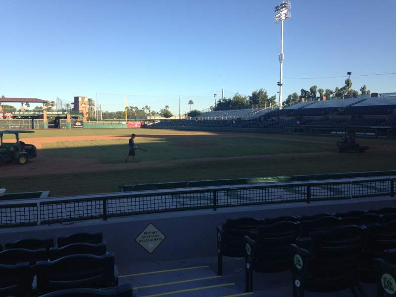 Seating view for Scottsdale Stadium Section 115 Row H Seat 1