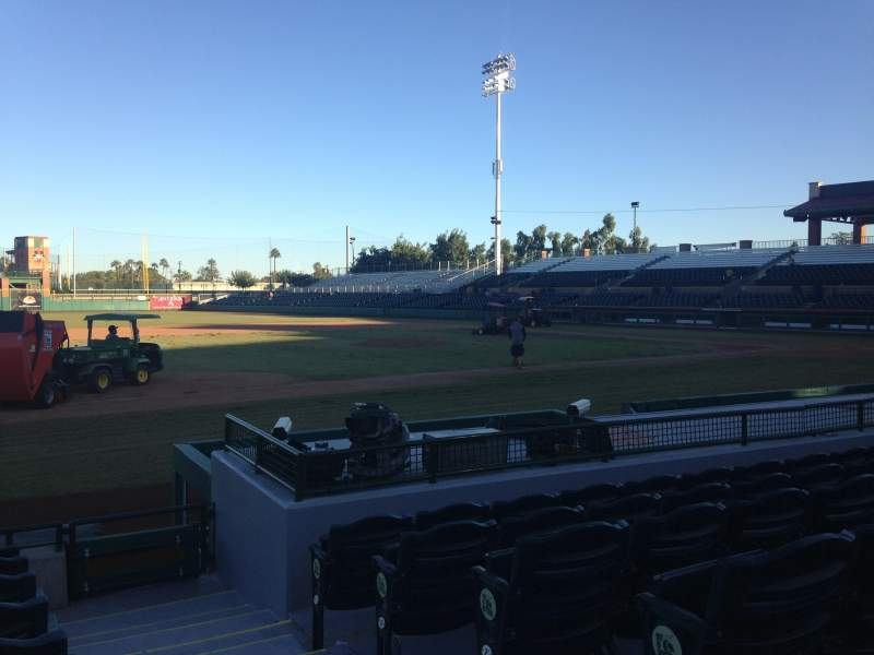 Seating view for Scottsdale Stadium Section 117 Row H Seat 1