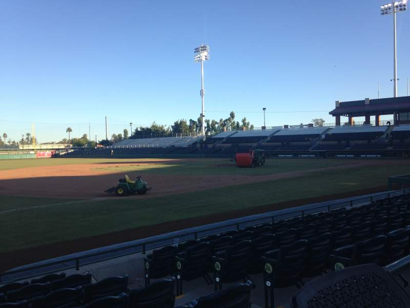 Seating view for Scottsdale Stadium Section 121 Row WC Seat 3