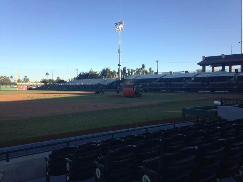Seating view for Scottsdale Stadium Section 119 Row F Seat 1