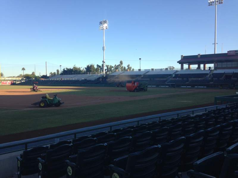 Seating view for Scottsdale Stadium Section 121 Row F Seat 1