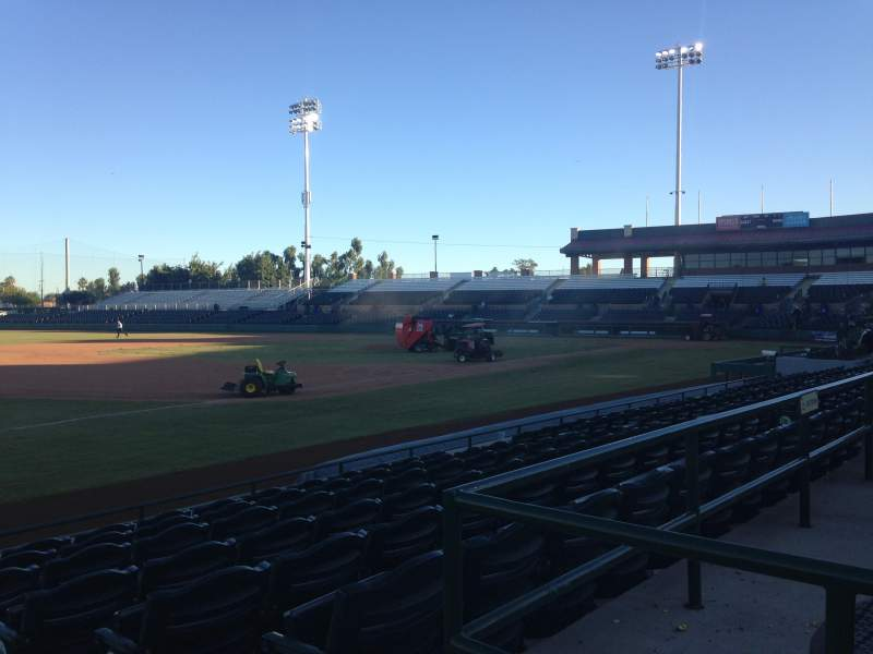 Seating view for Scottsdale Stadium Section 123 Row H Seat 1