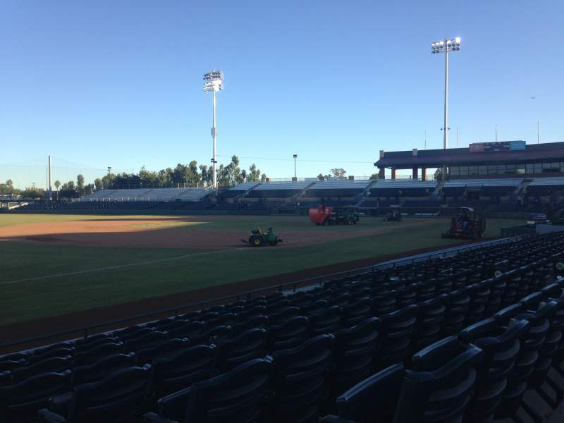 Seating view for Scottsdale Stadium Section 125 Row H Seat 1