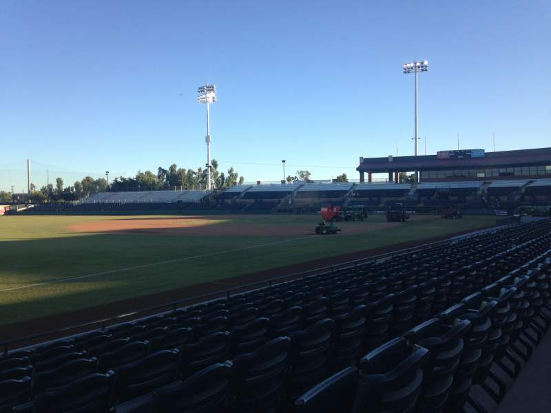 Seating view for Scottsdale Stadium Section 127 Row H Seat 1