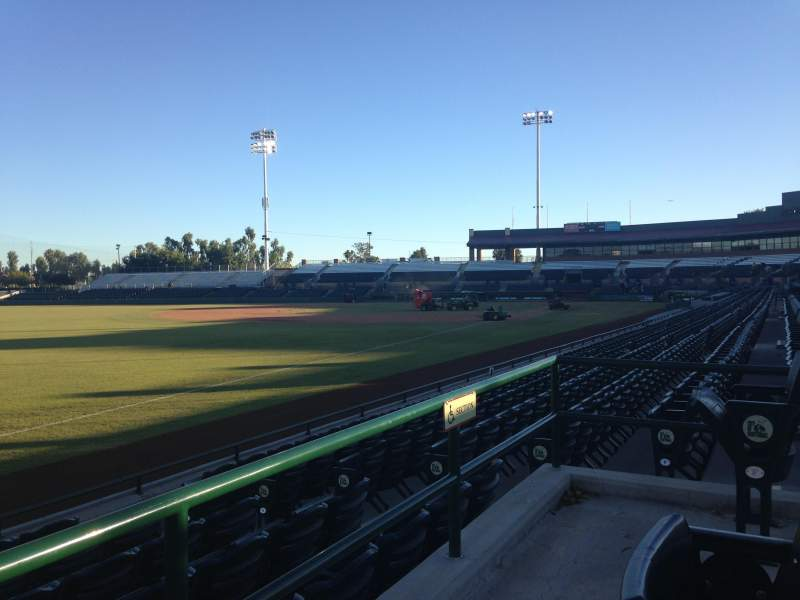Seating view for Scottsdale Stadium Section 129 Row WC Seat 3