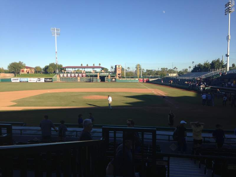 Seating view for Scottsdale Stadium Section 305 Row 1 Seat 1