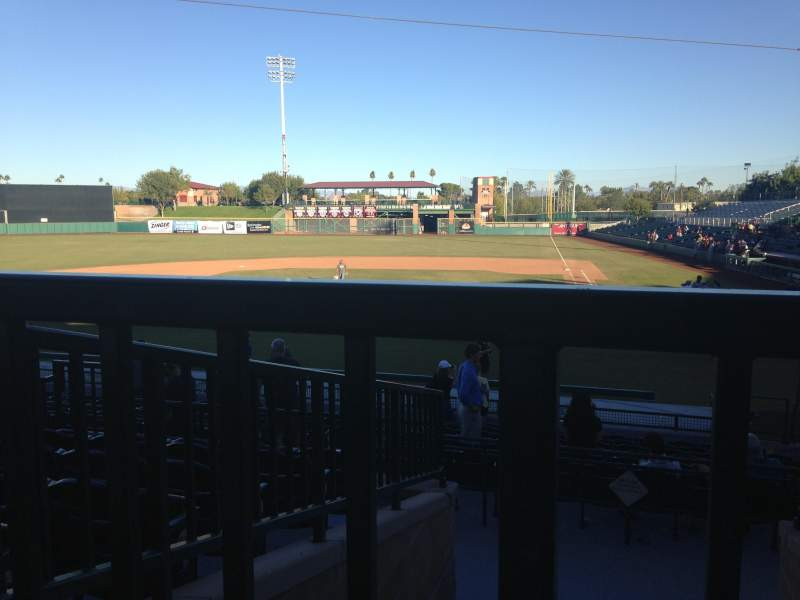 Seating view for Scottsdale Stadium Section 305 Row 1 Seat 14
