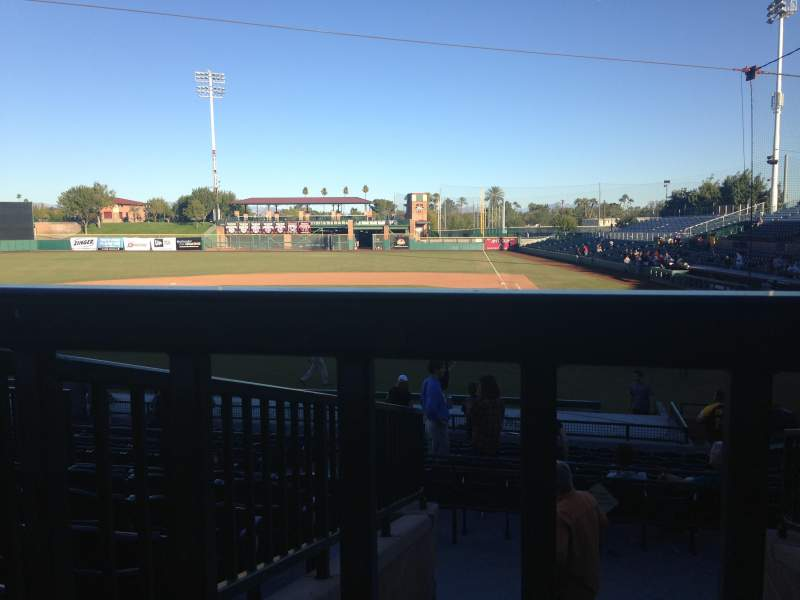 Seating view for Scottsdale Stadium Section 305 Row 1 Seat 15