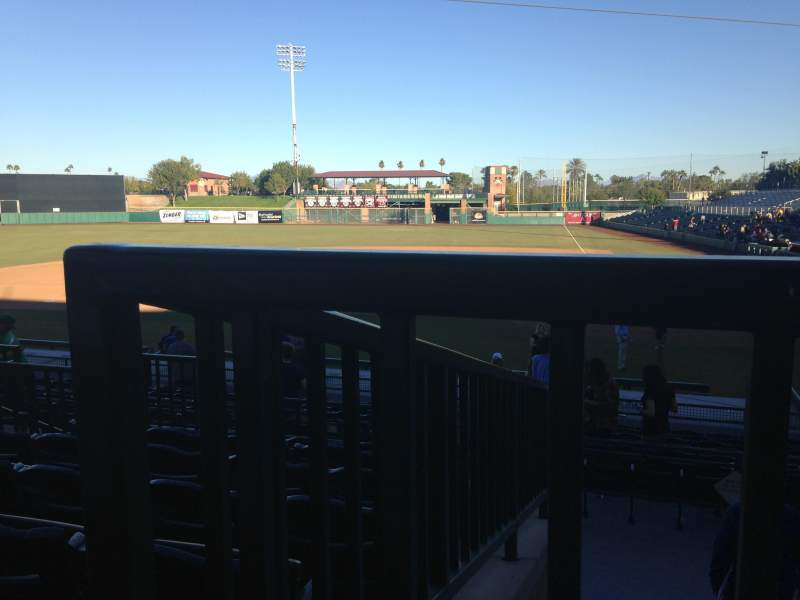 Seating view for Scottsdale Stadium Section 305 Row 1 Seat 16
