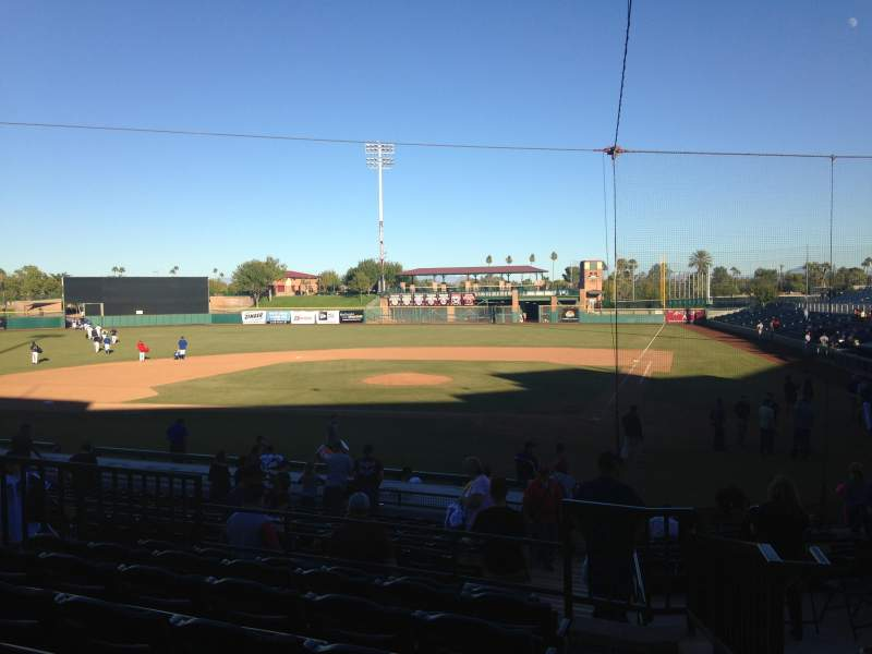 Seating view for Scottsdale Stadium Section 205 Row M Seat 1