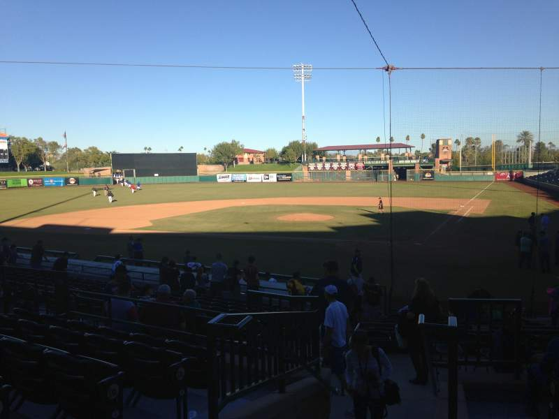 Seating view for Scottsdale Stadium Section 203 Row M Seat 11