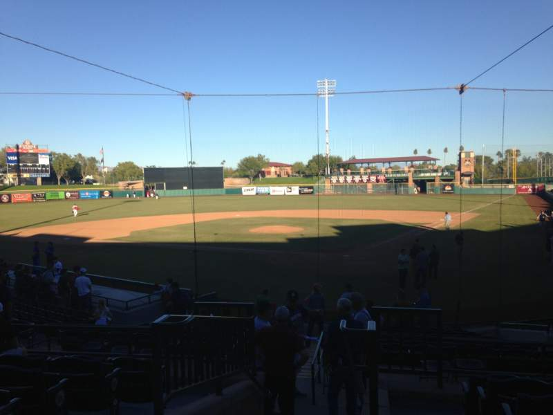 Seating view for Scottsdale Stadium Section 303 Row 1 Seat 13