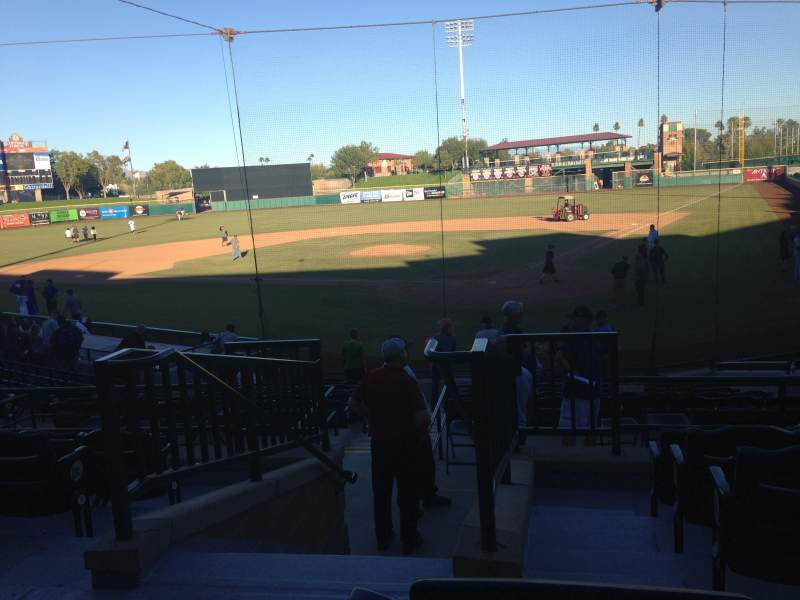 Seating view for Scottsdale Stadium Section 301 Row 1 Seat 16