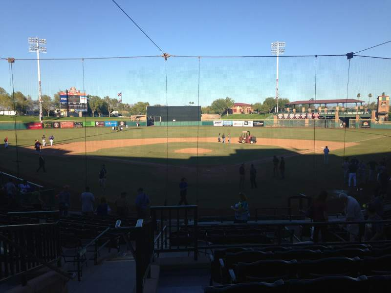 Seating view for Scottsdale Stadium Section 201 Row O Seat 13