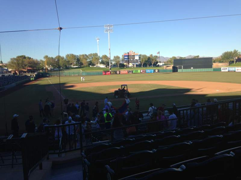 Seating view for Scottsdale Stadium Section 208 Row M Seat 1