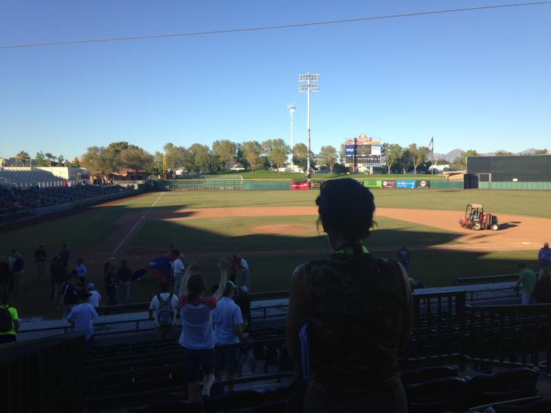 Seating view for Scottsdale Stadium Section 306 Row 1 Seat 1