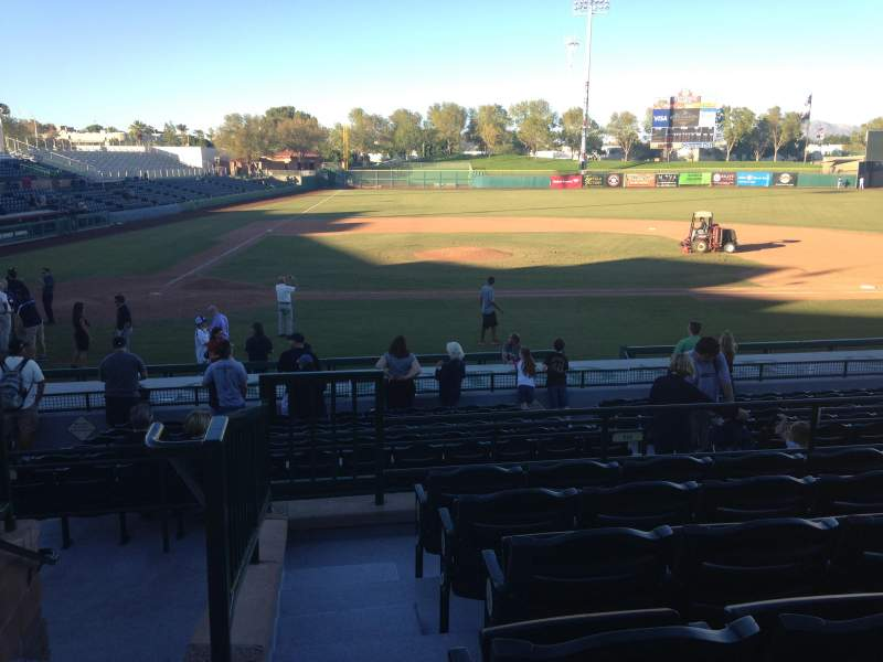 Seating view for Scottsdale Stadium Section 210 Row M Seat 1