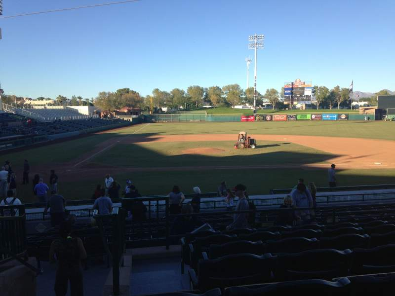 Seating view for Scottsdale Stadium Section 310 Row 1 Seat 1