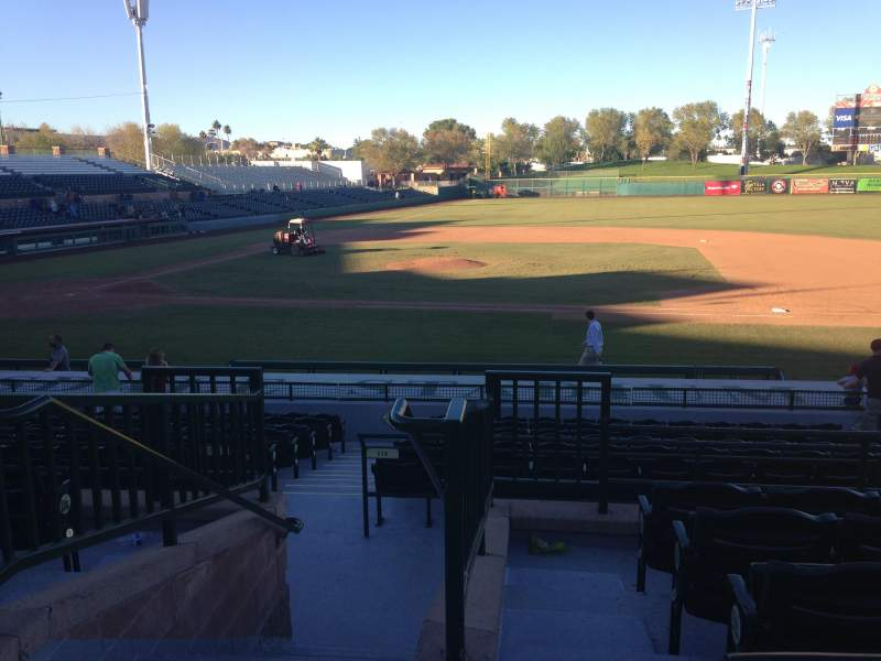 Seating view for Scottsdale Stadium Section 212 Row M Seat 1