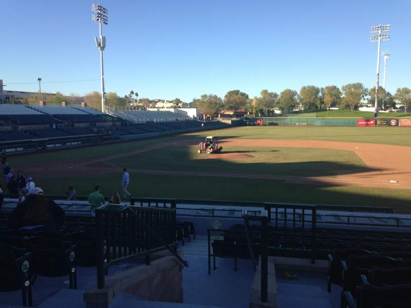 Seating view for Scottsdale Stadium Section 312 Row 1 Seat 1