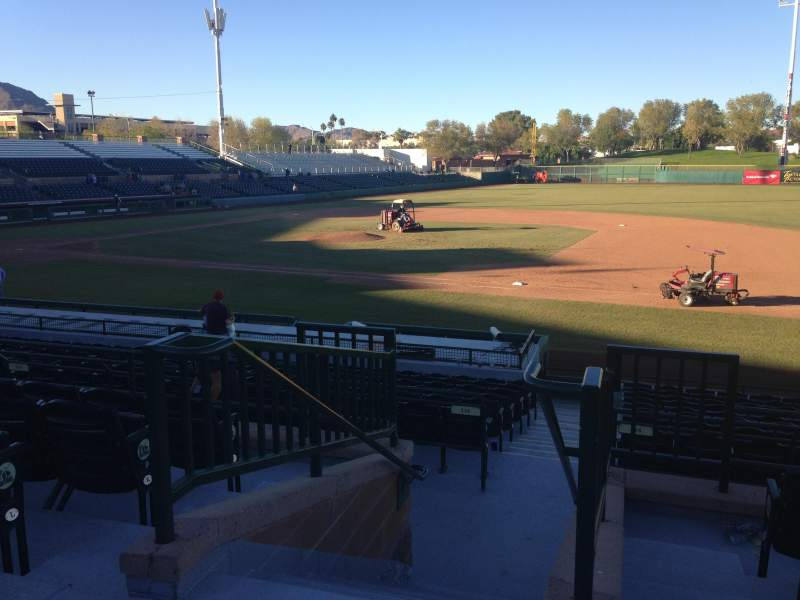 Seating view for Scottsdale Stadium Section 214 Row M Seat 1