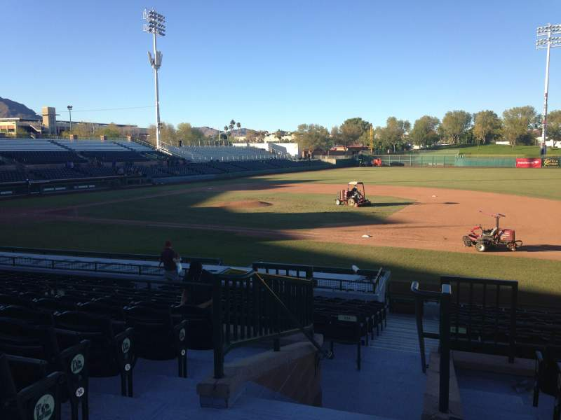 Seating view for Scottsdale Stadium Section 314 Row 1 Seat 1