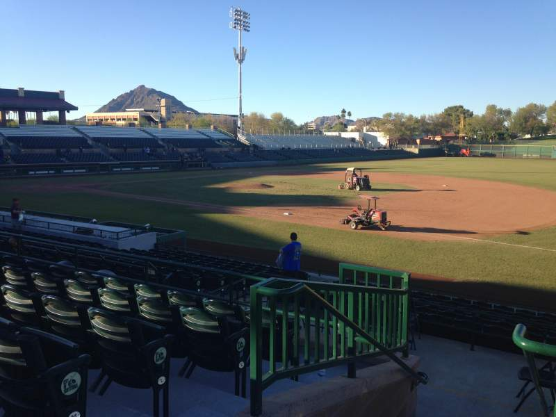 Seating view for Scottsdale Stadium Section 216 Row M Seat 1