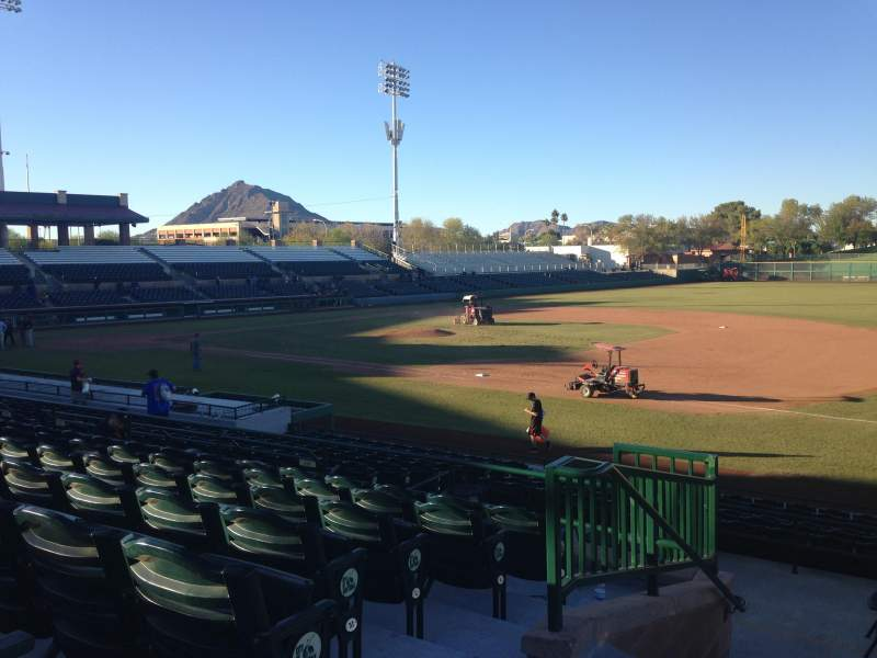 Seating view for Scottsdale Stadium Section 316 Row 1 Seat 1