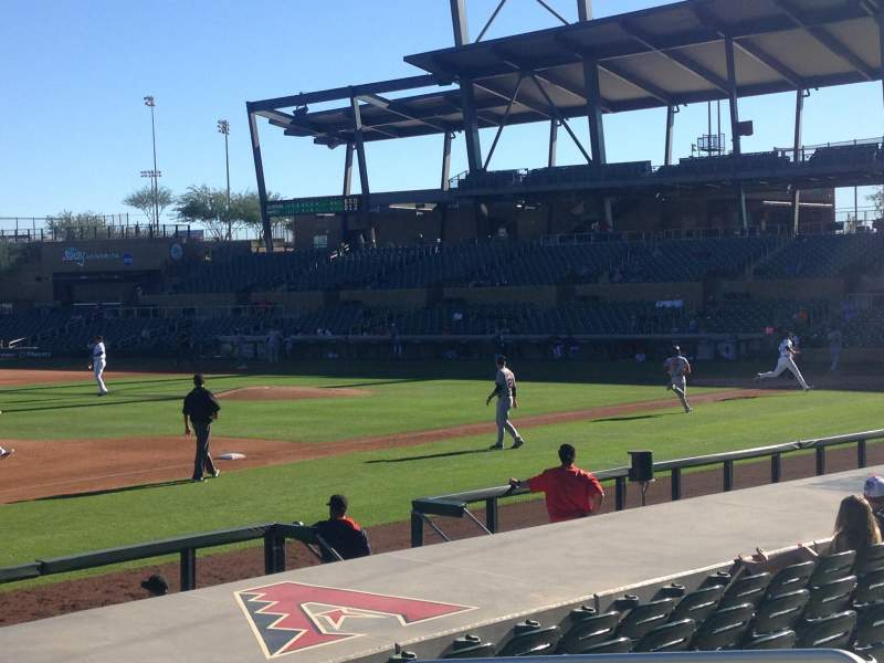Seating view for Salt River Fields Section 120 Row WC Seat 6