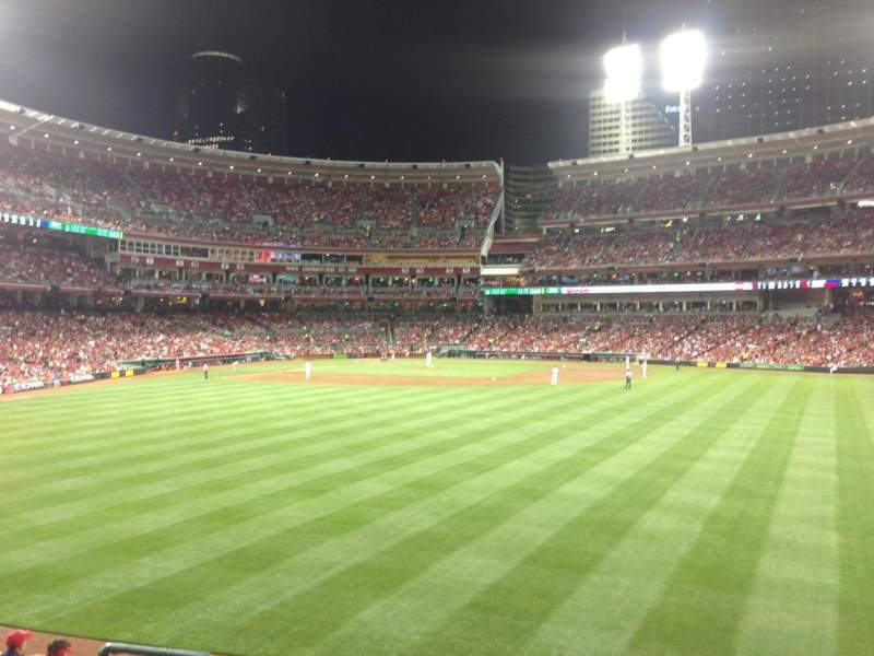 Seating view for Great American Ball Park Section 144 Row I Seat 14