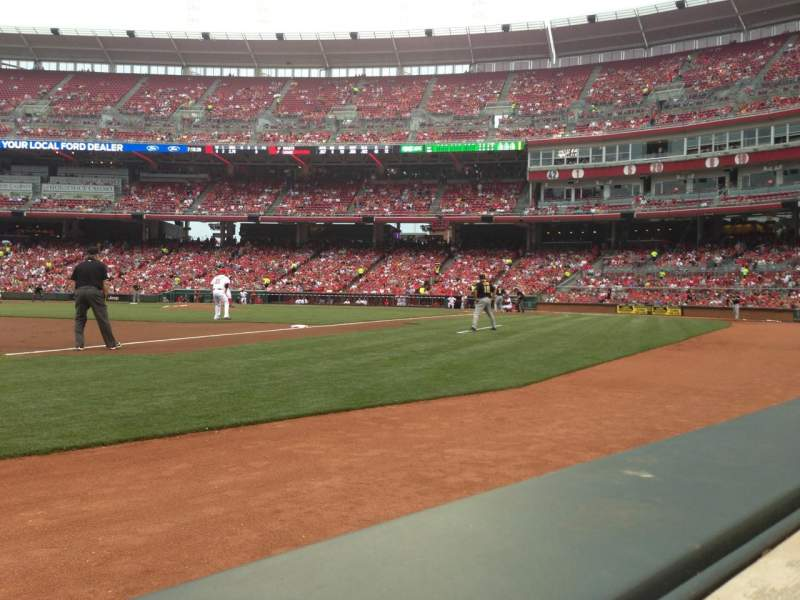 Great American Ball Park, section: 113, row: A, seat: 12