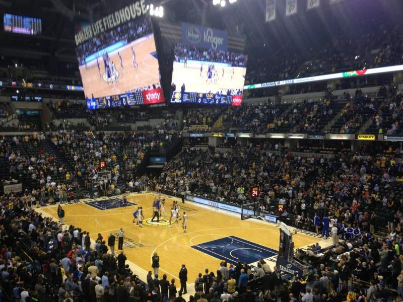Seating view for Bankers Life Fieldhouse Section 113 Row 1 Seat 3
