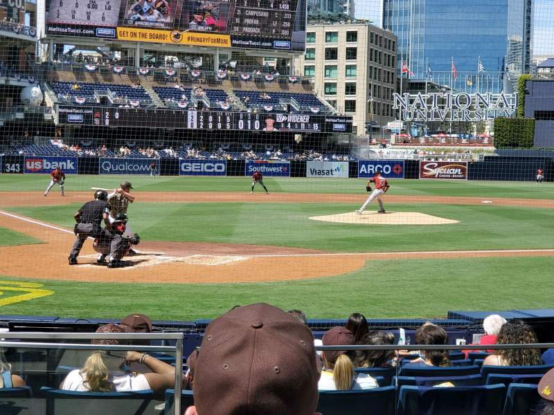 Seating view for PETCO Park Section 103 Row 12 Seat 1