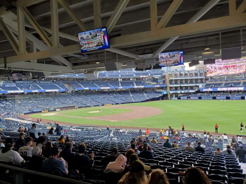 Seating view for PETCO Park Section 117 Row 44D Seat 12