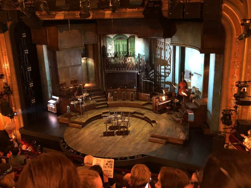 Seating view for Walter Kerr Theatre Section Mezzanine R Row H Seat 14