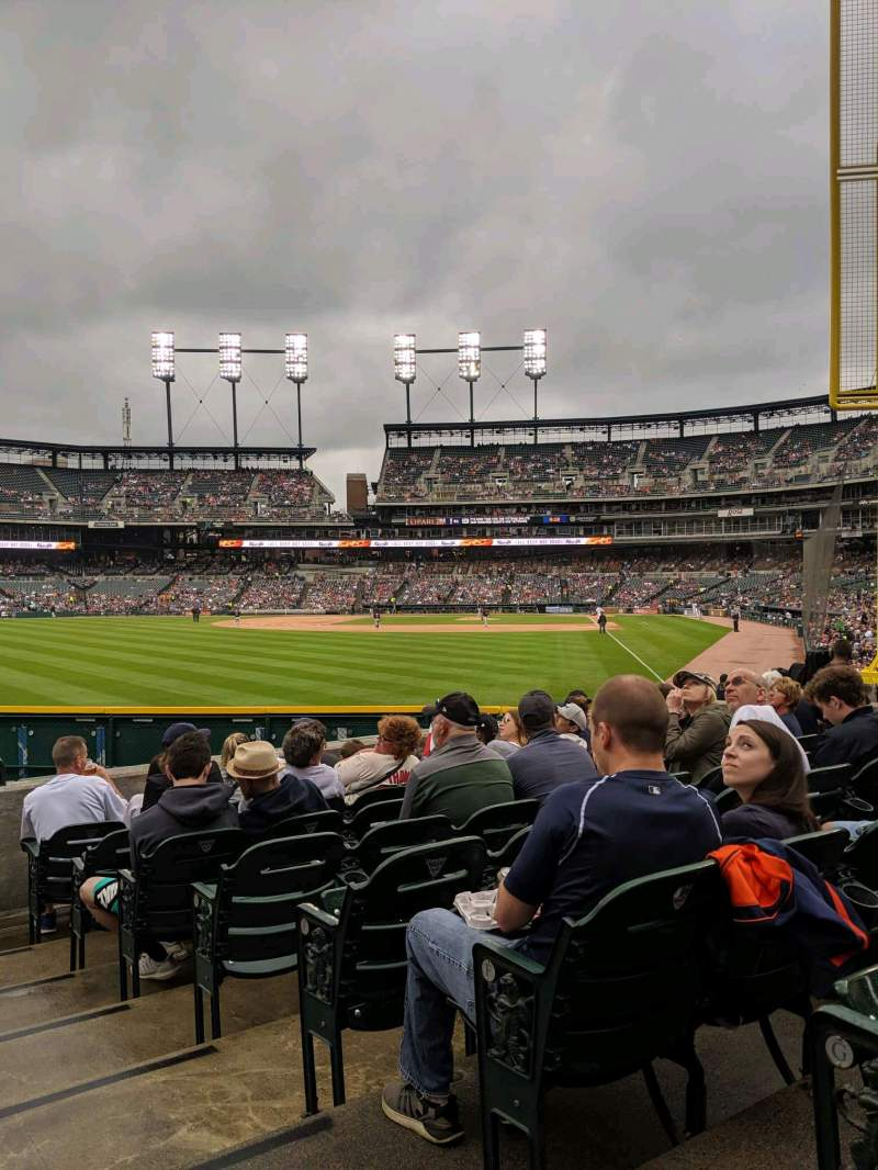 Seating view for Comerica Park Section 145 Row H Seat 1
