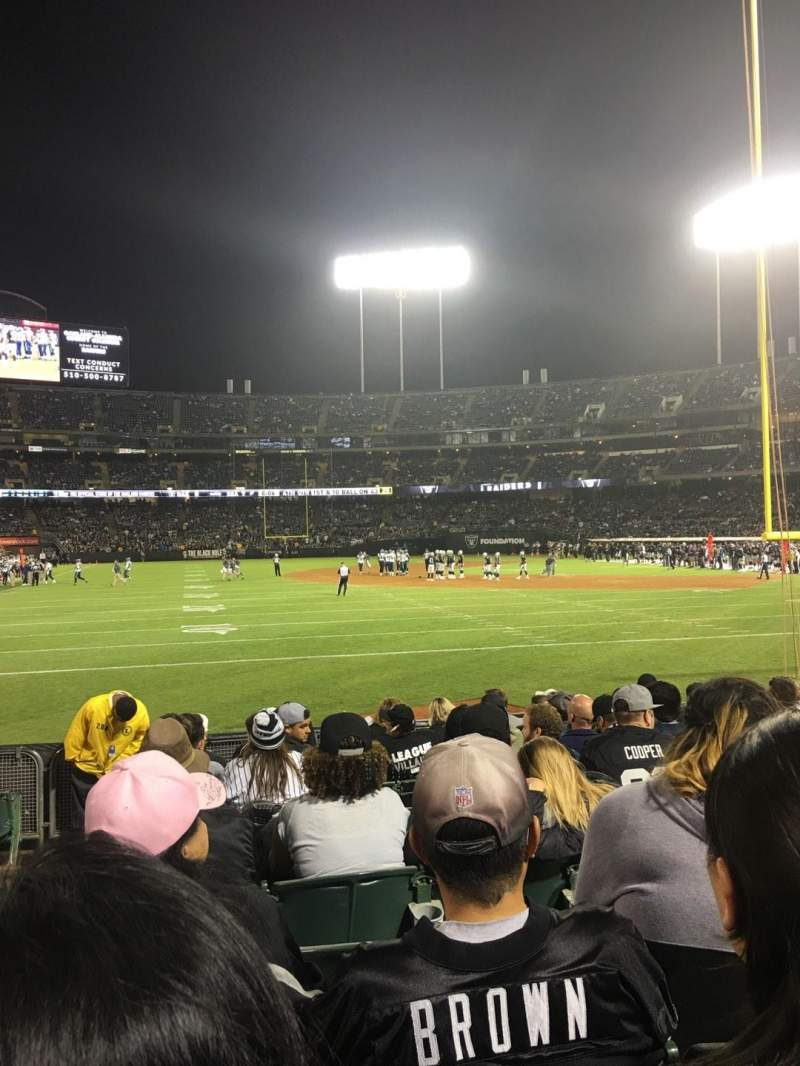 Seating view for Oakland Alameda Coliseum Section 129 Row 11 Seat 15